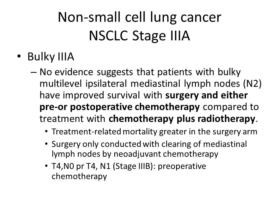 Non-small cell lung cancer NSCLC Stage IIIA