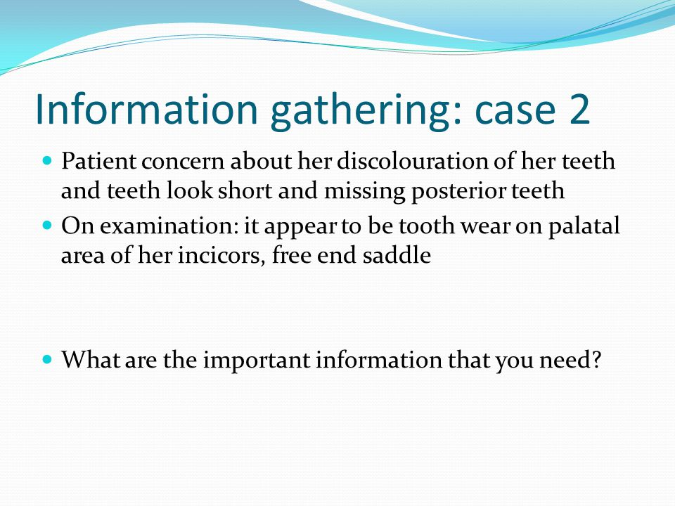 Information gathering: case 2