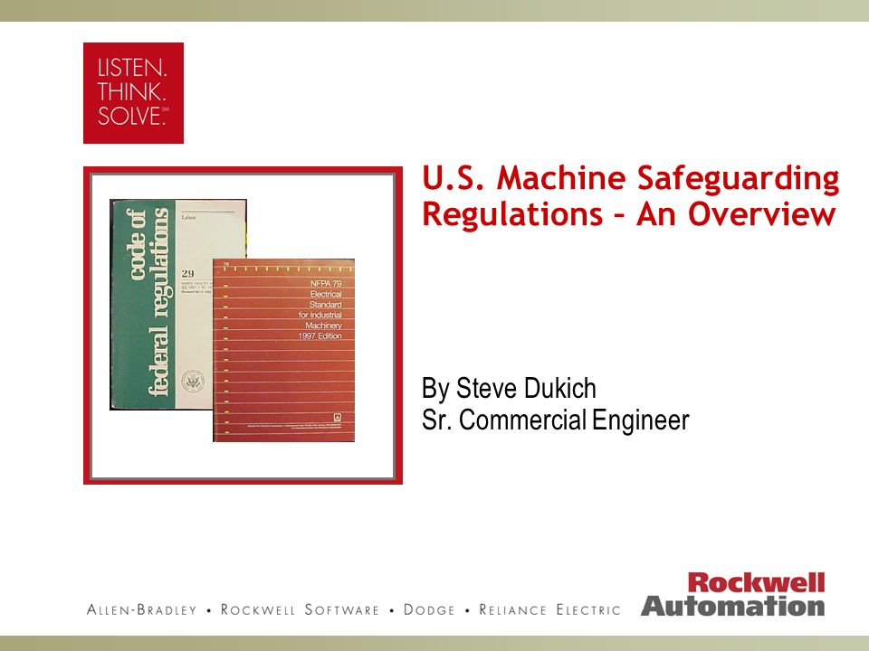 U.S. Machine Safeguarding Regulations – An Overview