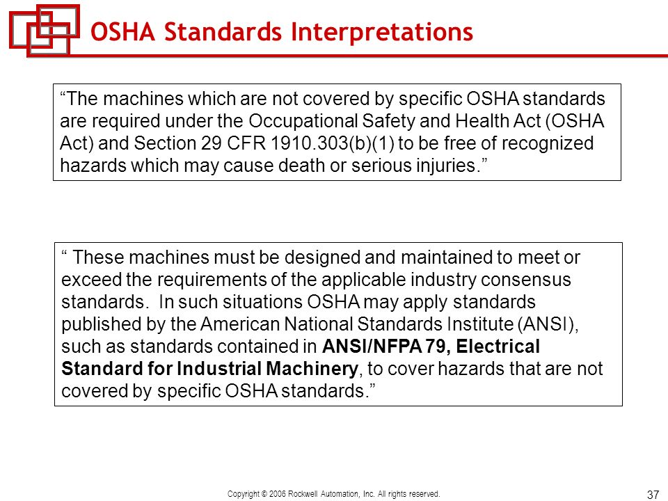 OSHA Standards Interpretations