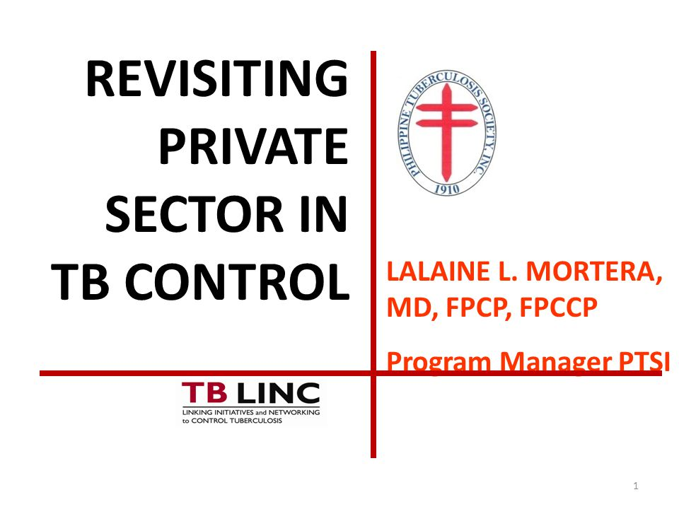 REVISITING PRIVATE SECTOR IN TB CONTROL
