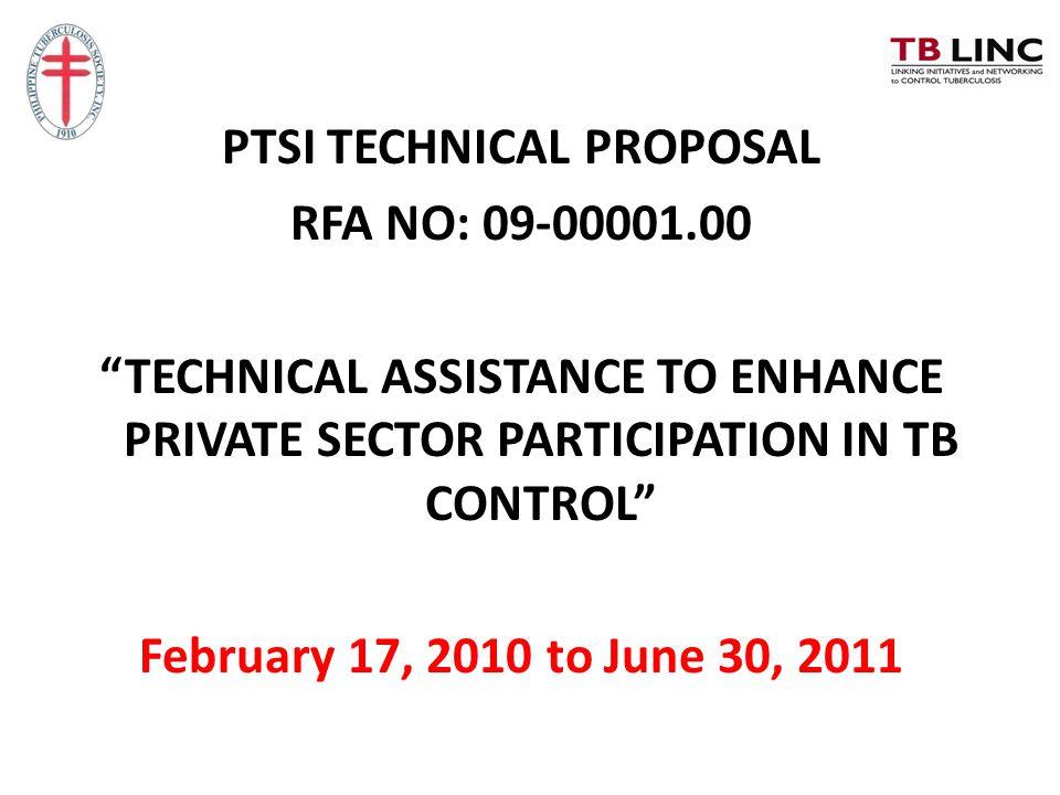 PTSI TECHNICAL PROPOSAL RFA NO: 09-00001