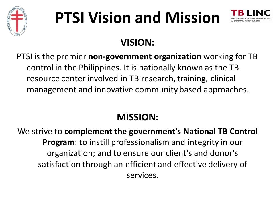 PTSI Vision and Mission