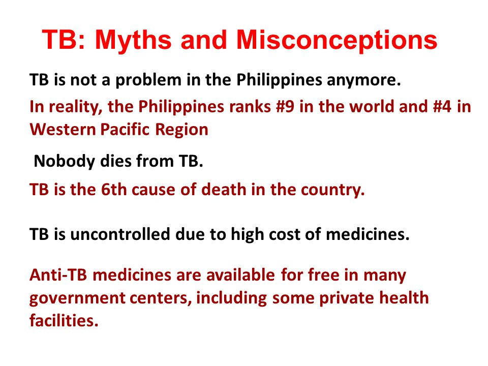 TB: Myths and Misconceptions