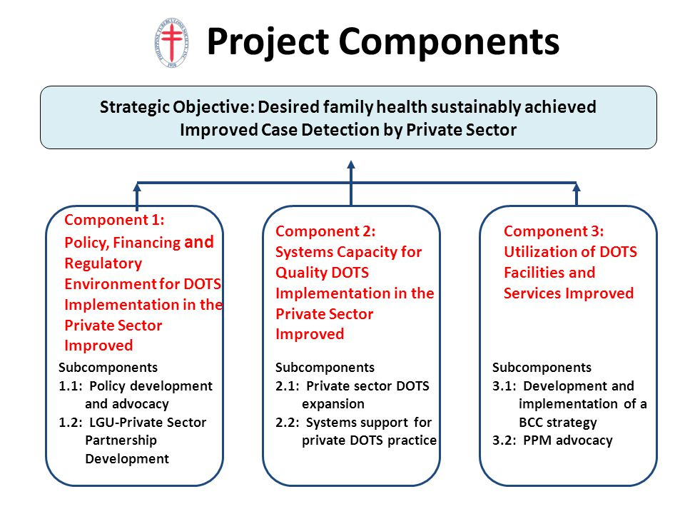 Project Components Strategic Objective: Desired family health sustainably achieved. Improved Case Detection by Private Sector.