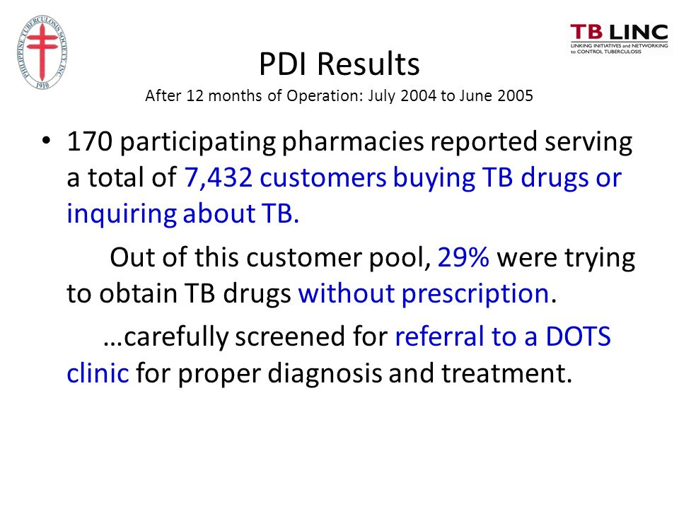 PDI Results After 12 months of Operation: July 2004 to June 2005
