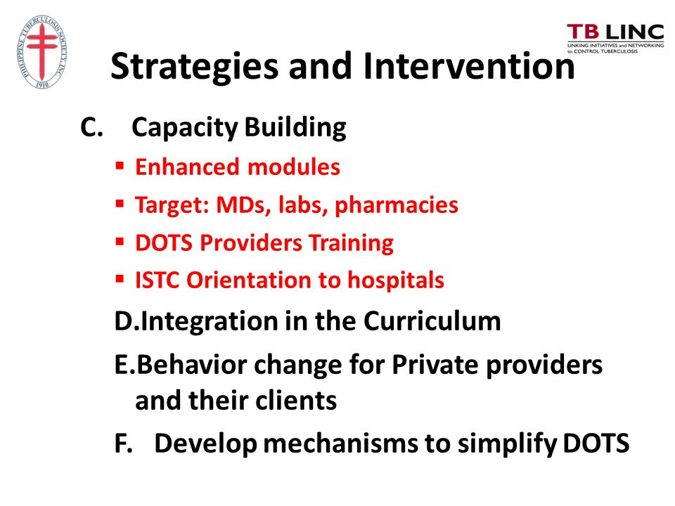 Strategies and Intervention