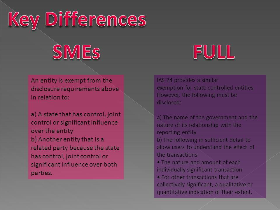Key Differences SMEs FULL