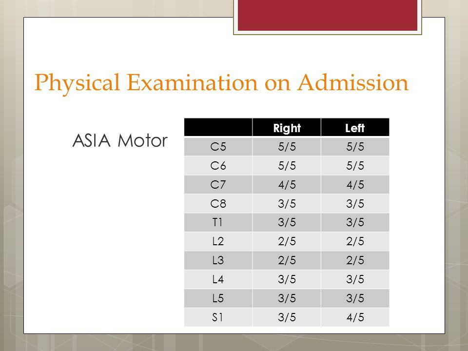 Physical Examination on Admission