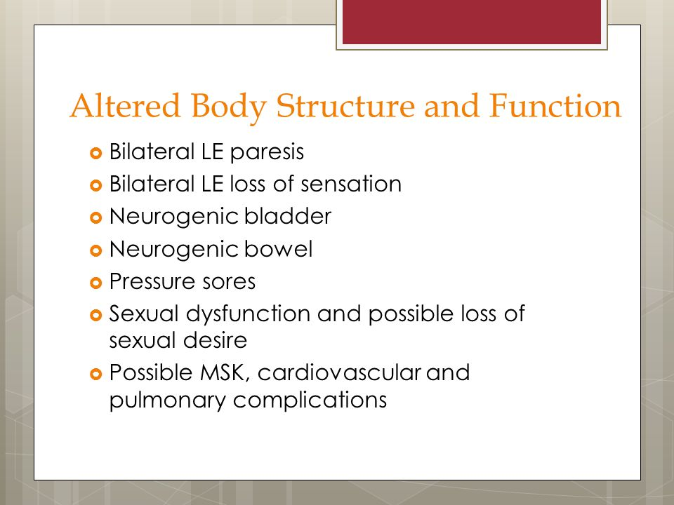 Altered Body Structure and Function