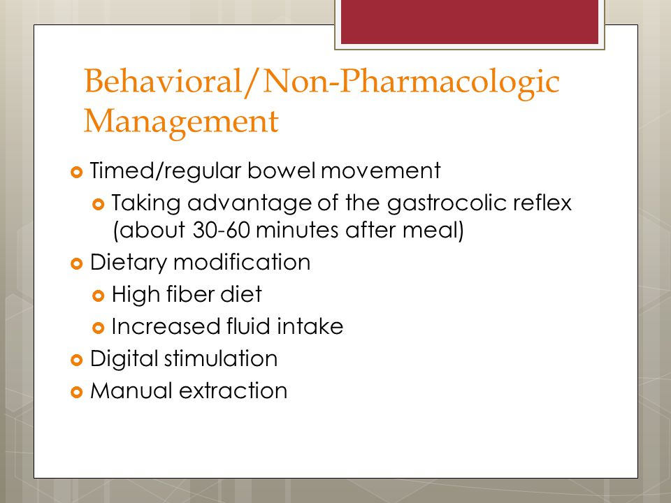 Behavioral/Non-Pharmacologic Management