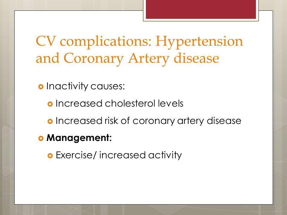 CV complications: Hypertension and Coronary Artery disease