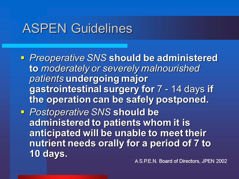 ASPEN Guidelines
