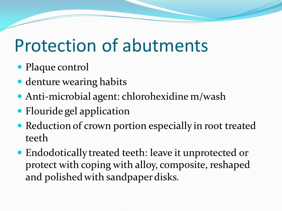 Protection of abutments