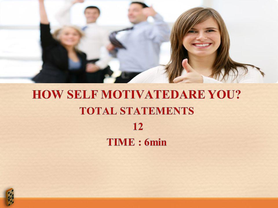HOW SELF MOTIVATEDARE YOU