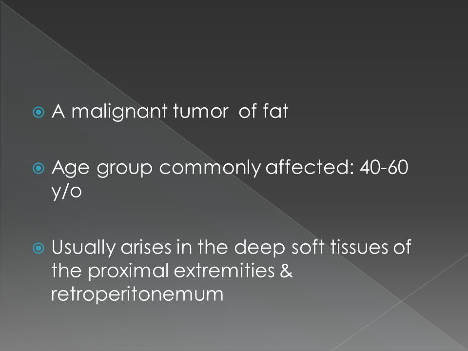 A malignant tumor of fat