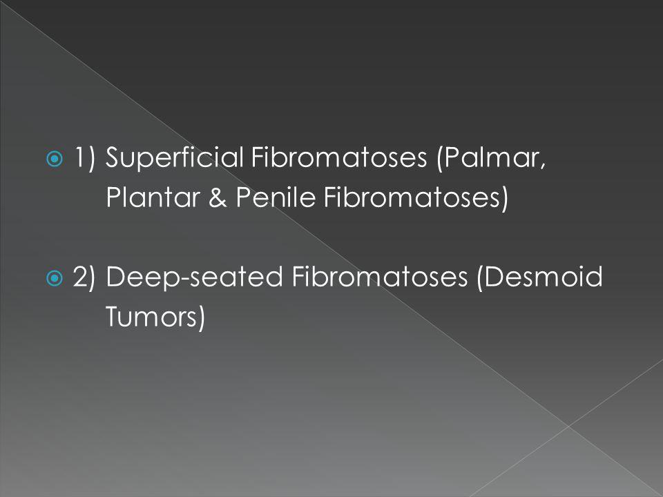 1) Superficial Fibromatoses (Palmar,