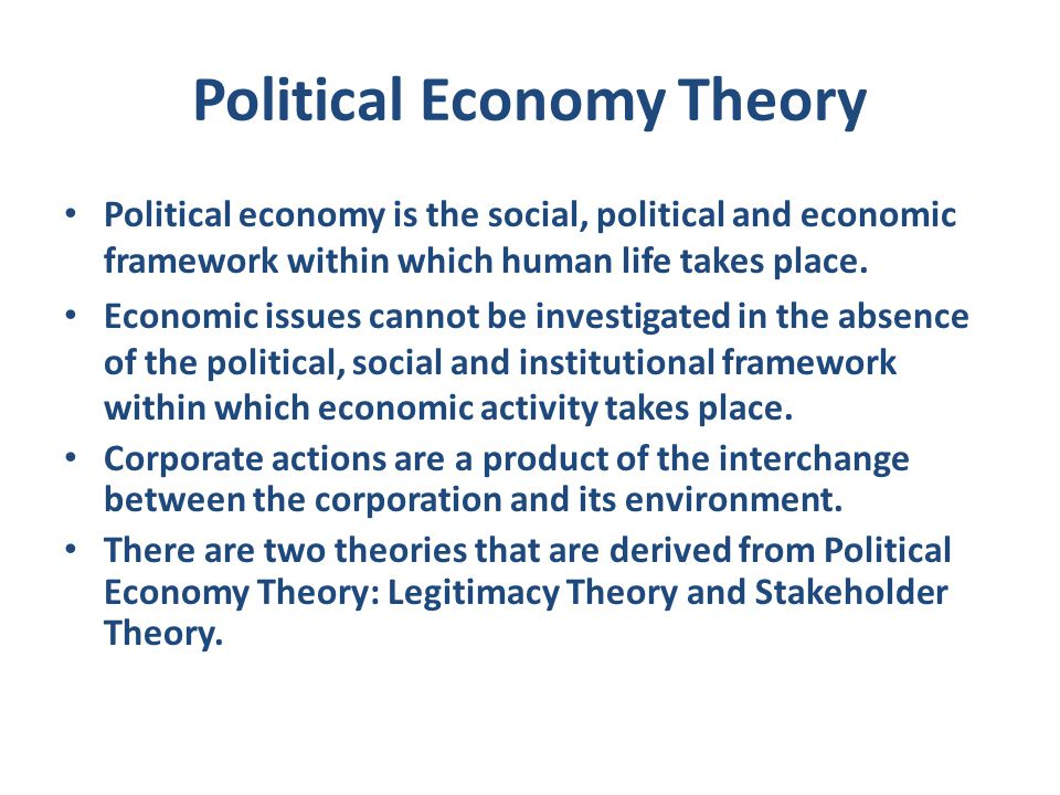 Political Economy Theory