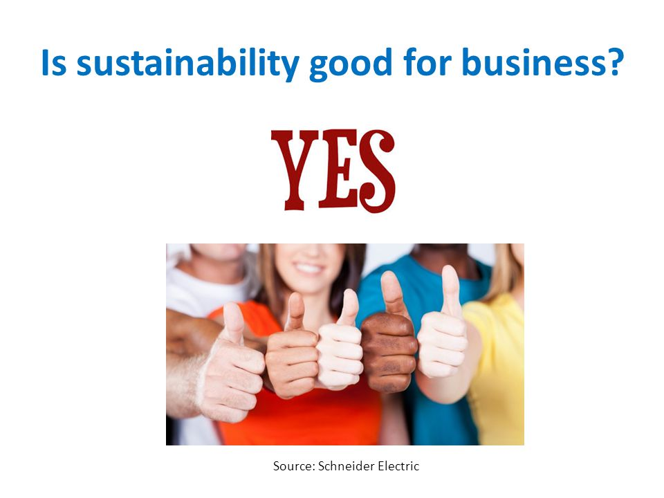 Is sustainability good for business