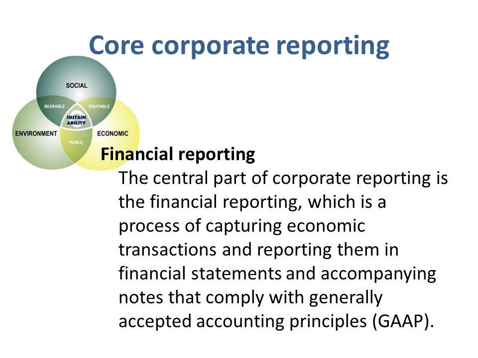 Core corporate reporting