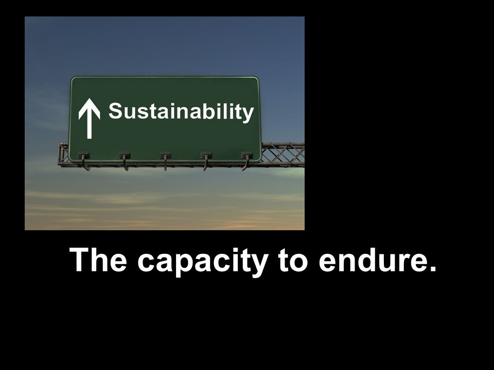 The capacity to endure.