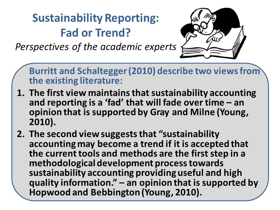 Sustainability Reporting: Fad or Trend