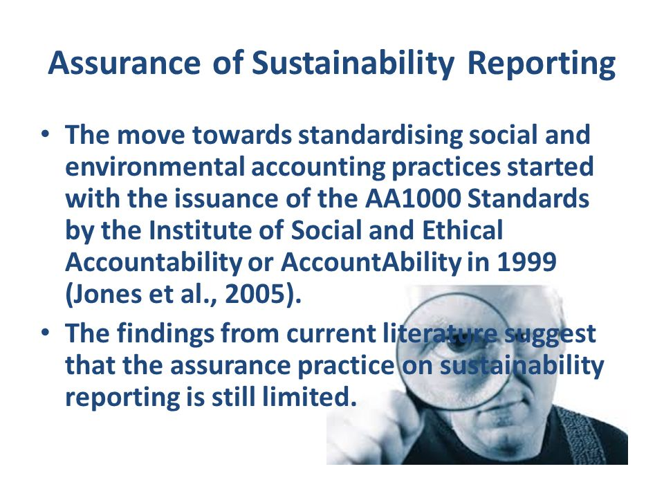 Assurance of Sustainability Reporting