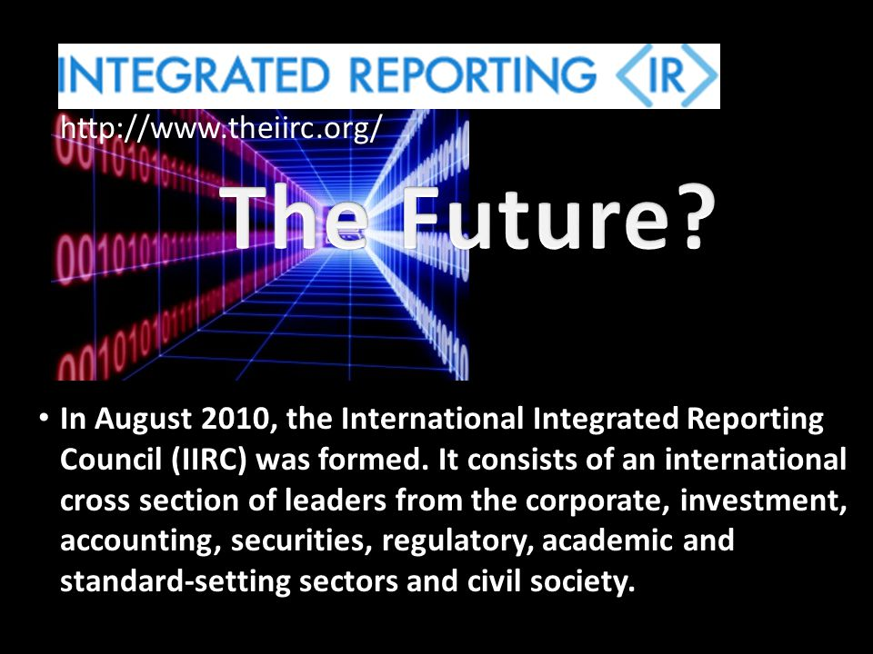The Future http://www.theiirc.org/