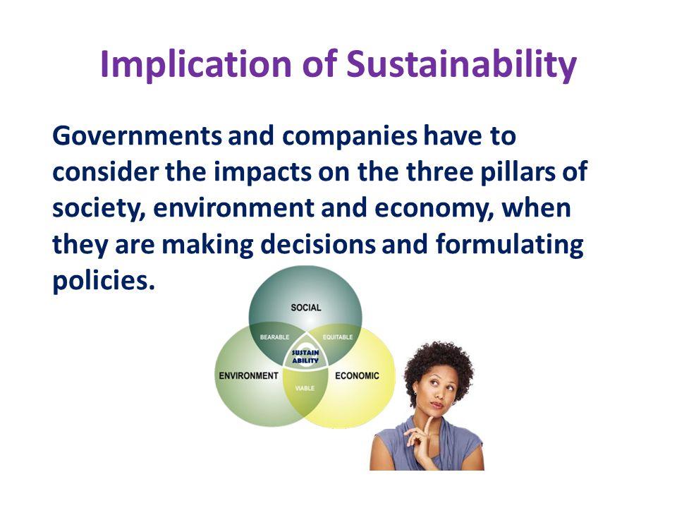 Implication of Sustainability