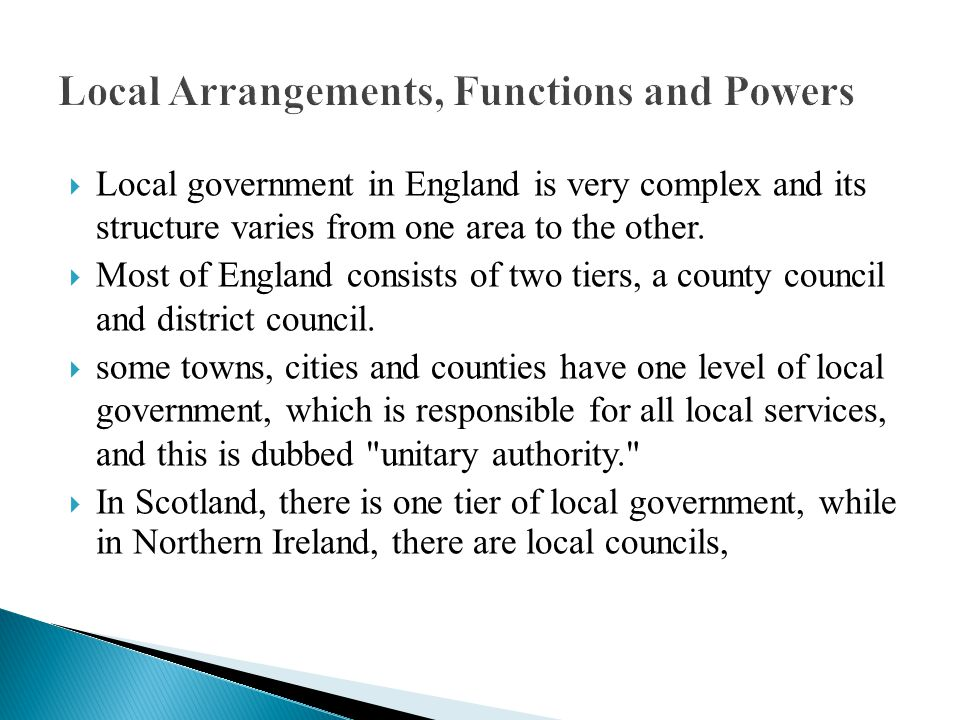 Local Arrangements, Functions and Powers