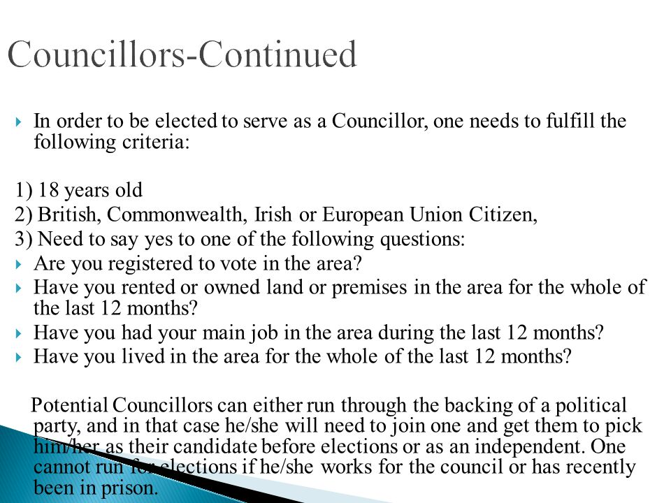 Councillors-Continued