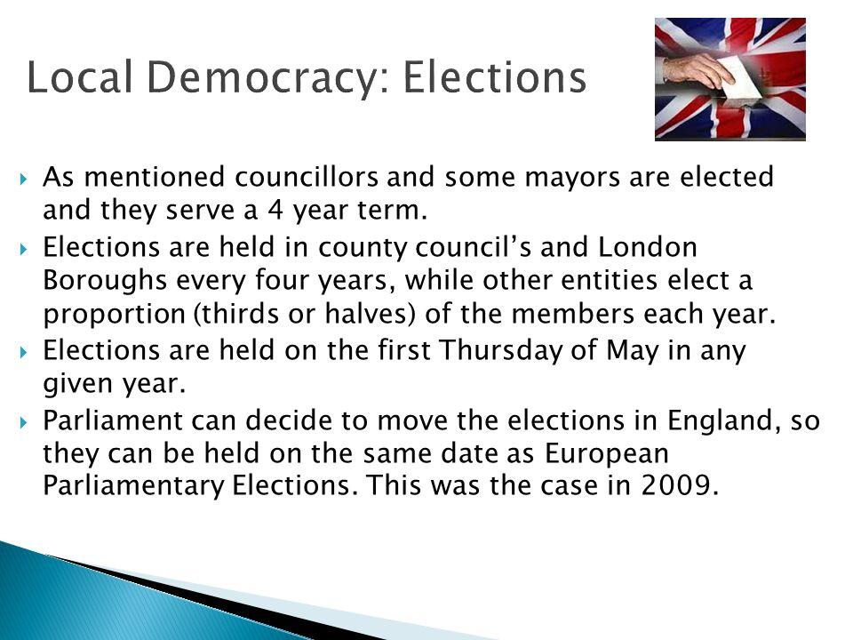 Local Democracy: Elections
