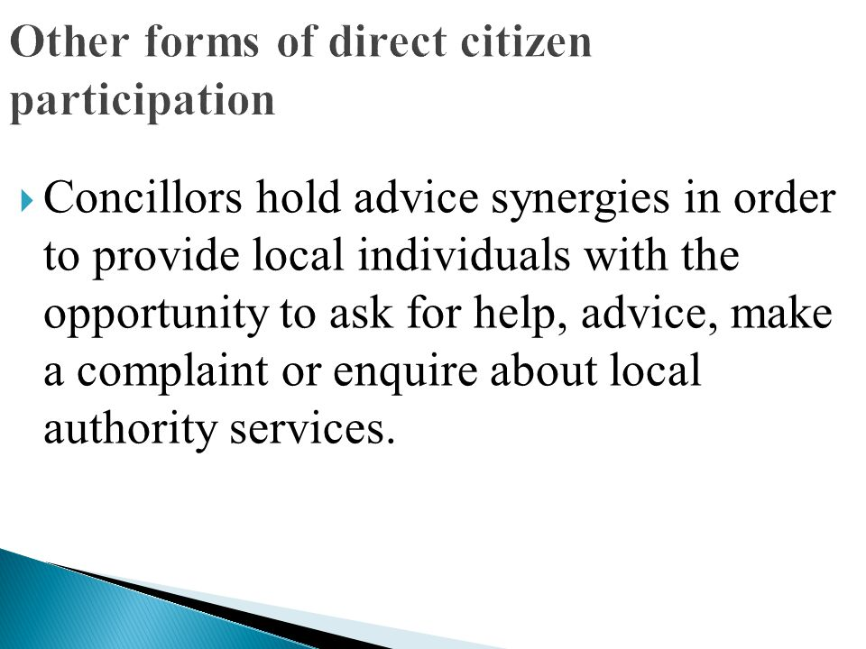 Other forms of direct citizen participation