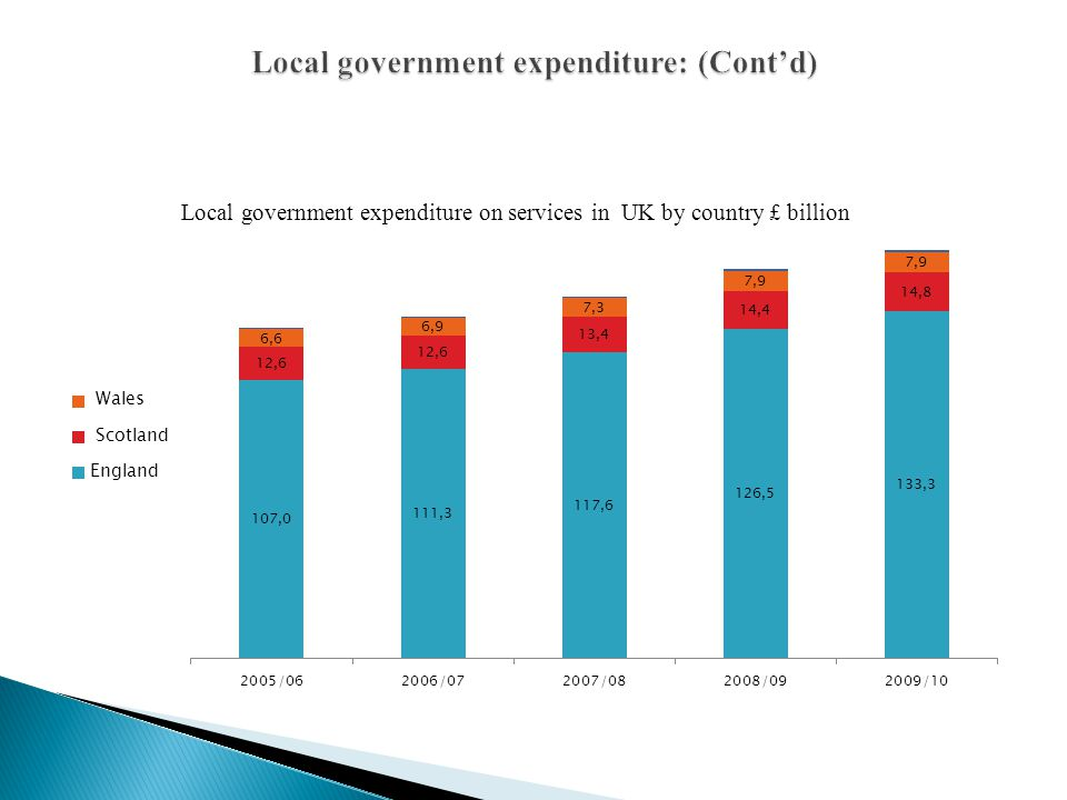 Local government expenditure: (Cont'd)