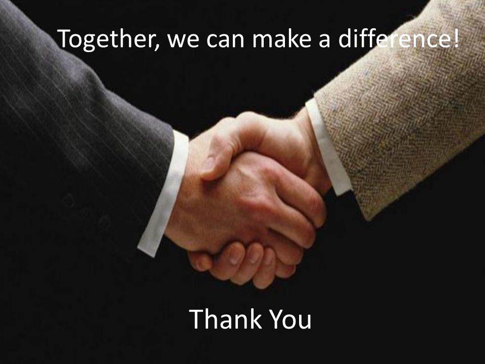 Together, we can make a difference!