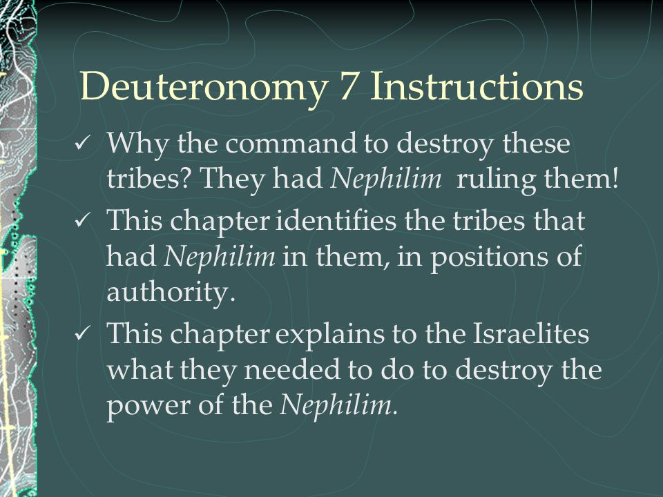 Deuteronomy 7 Instructions
