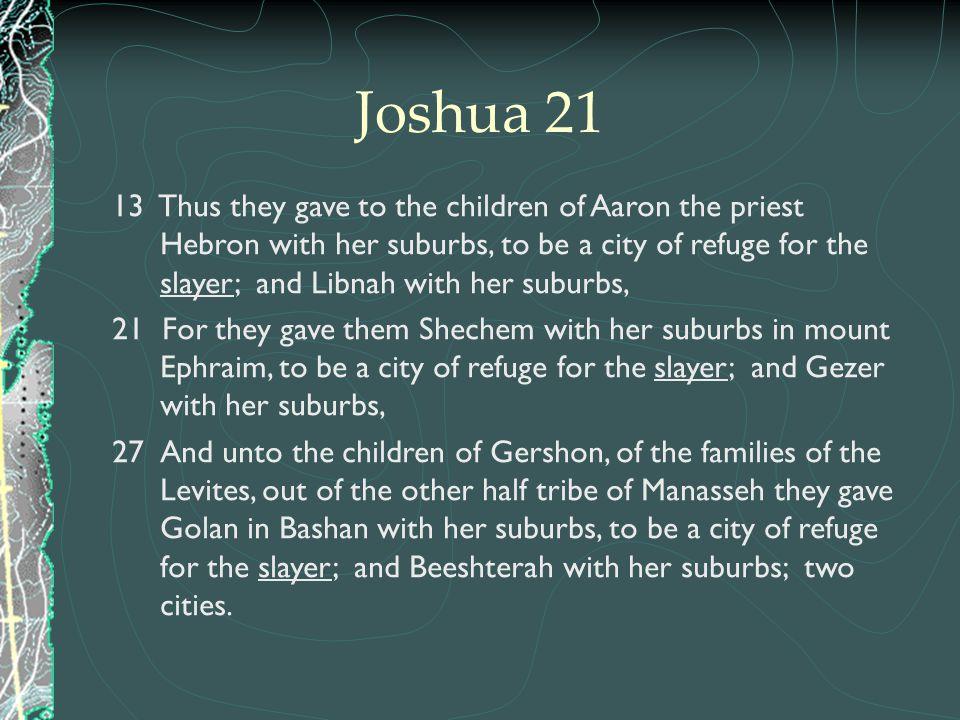 Joshua 21