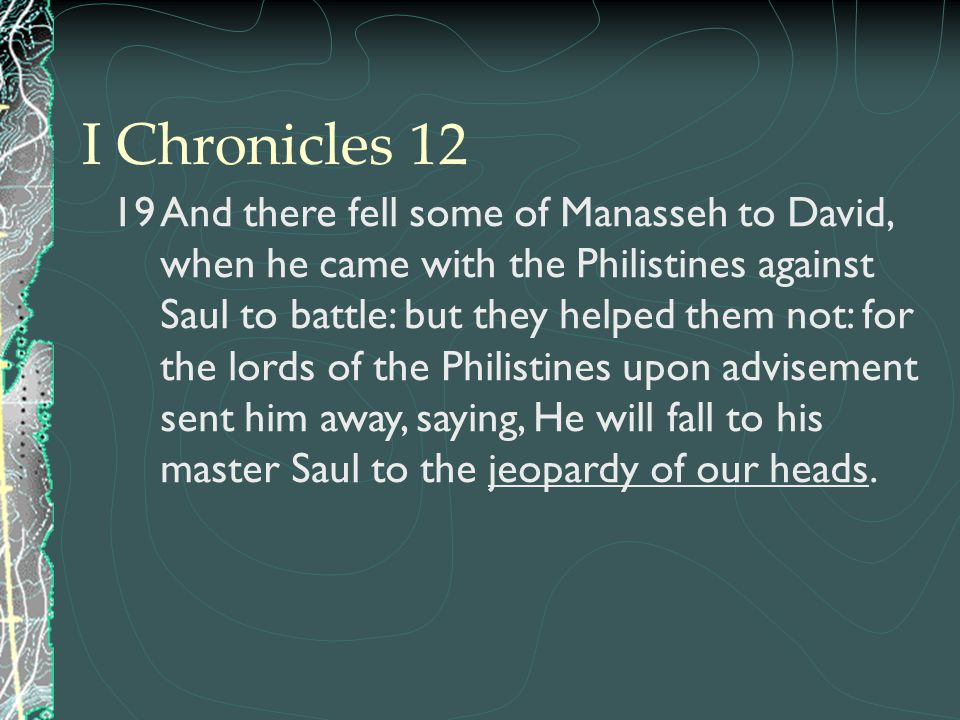 I Chronicles 12