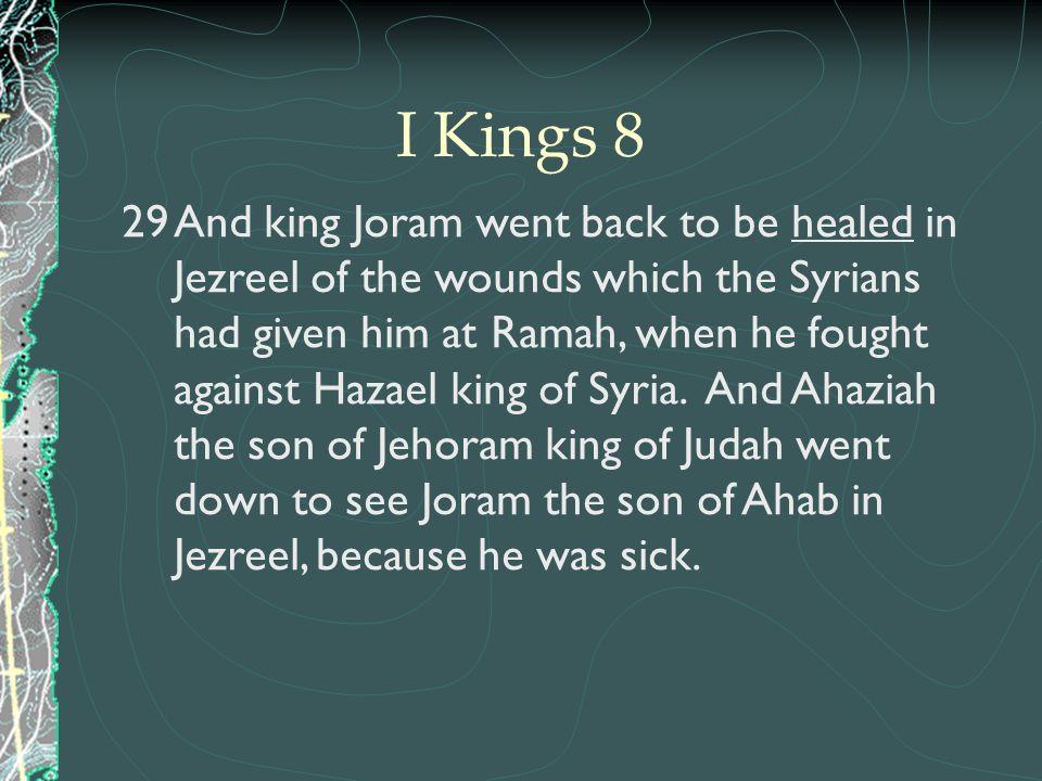 I Kings 8