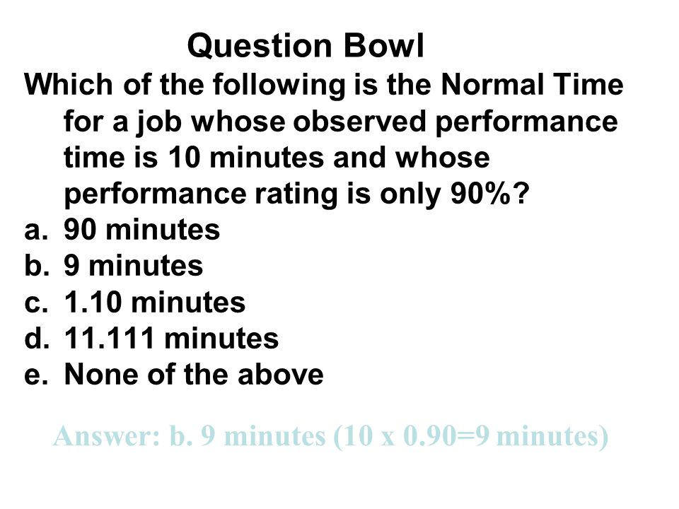 Question Bowl