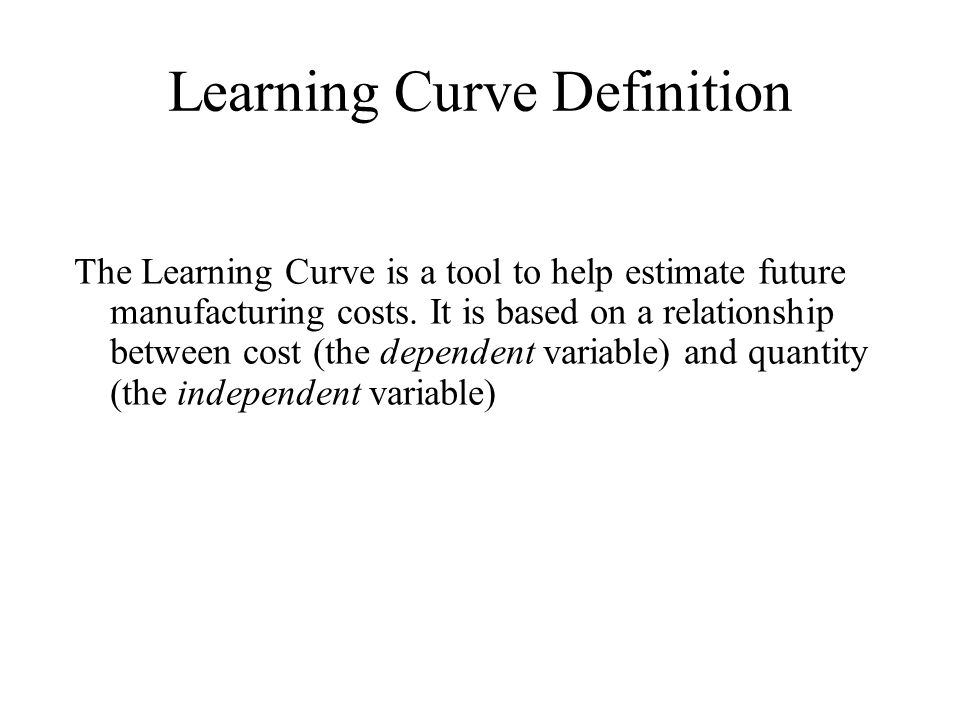Learning Curve Definition