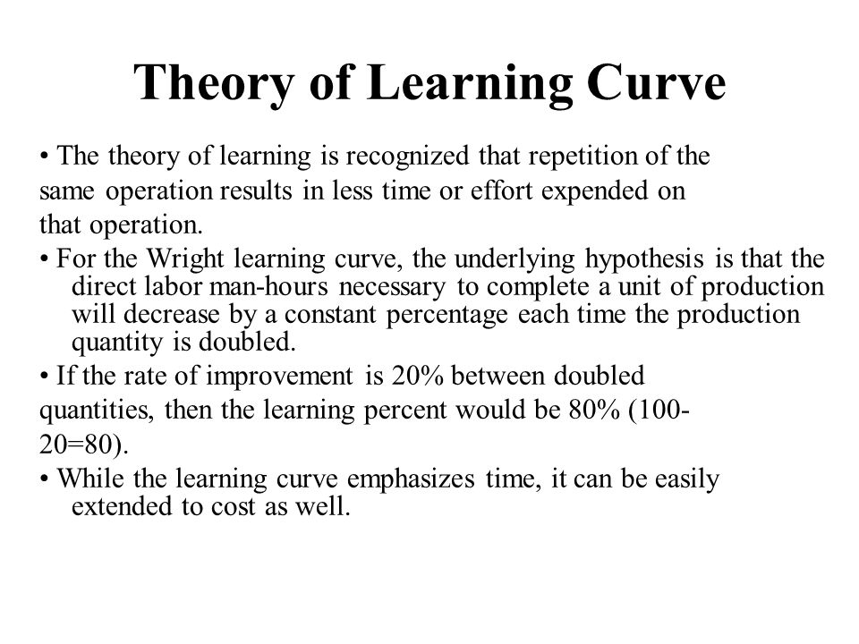 Theory of Learning Curve