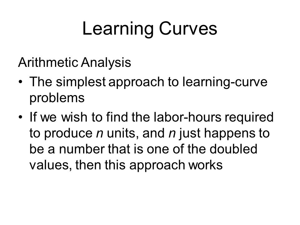 Learning Curves Arithmetic Analysis