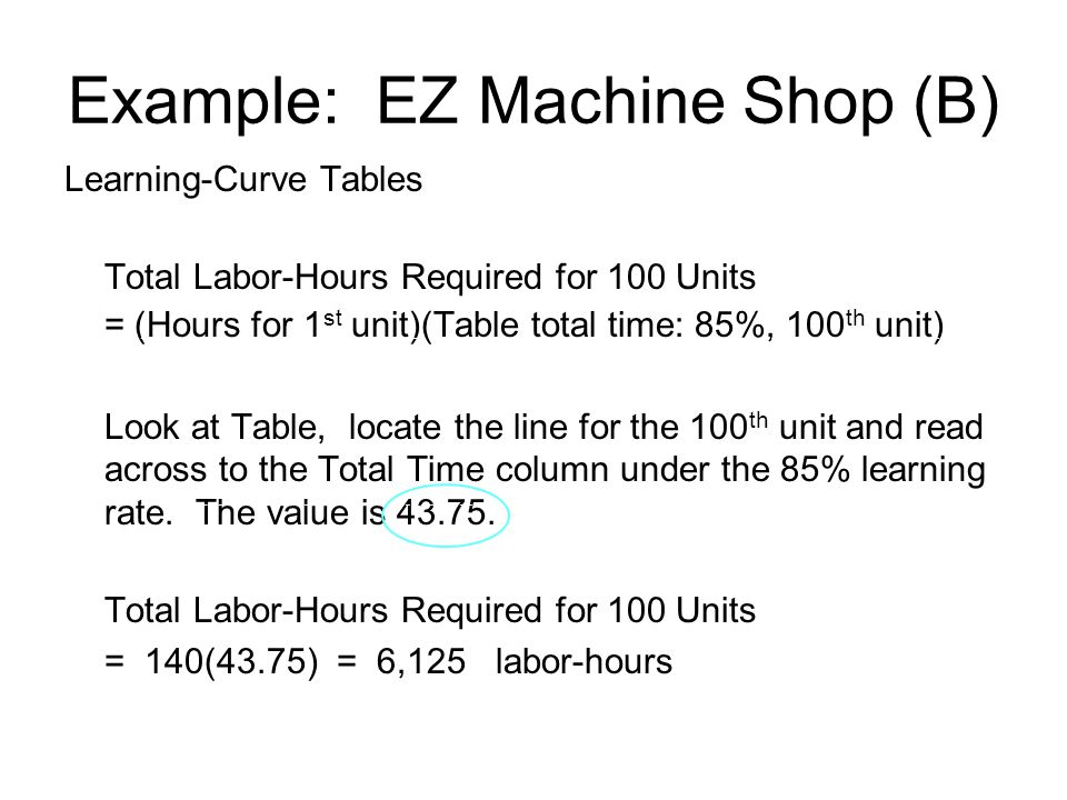 Example: EZ Machine Shop (B)