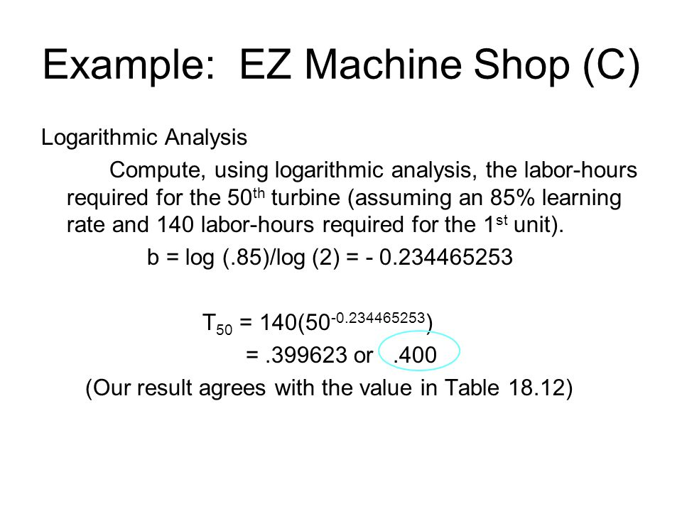Example: EZ Machine Shop (C)