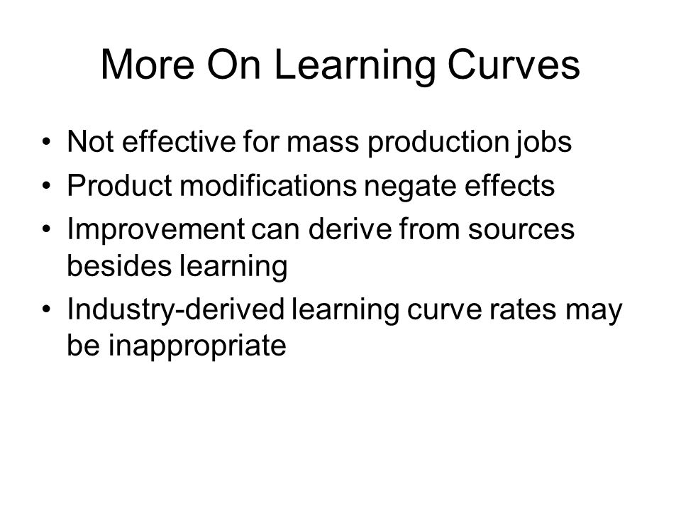 More On Learning Curves