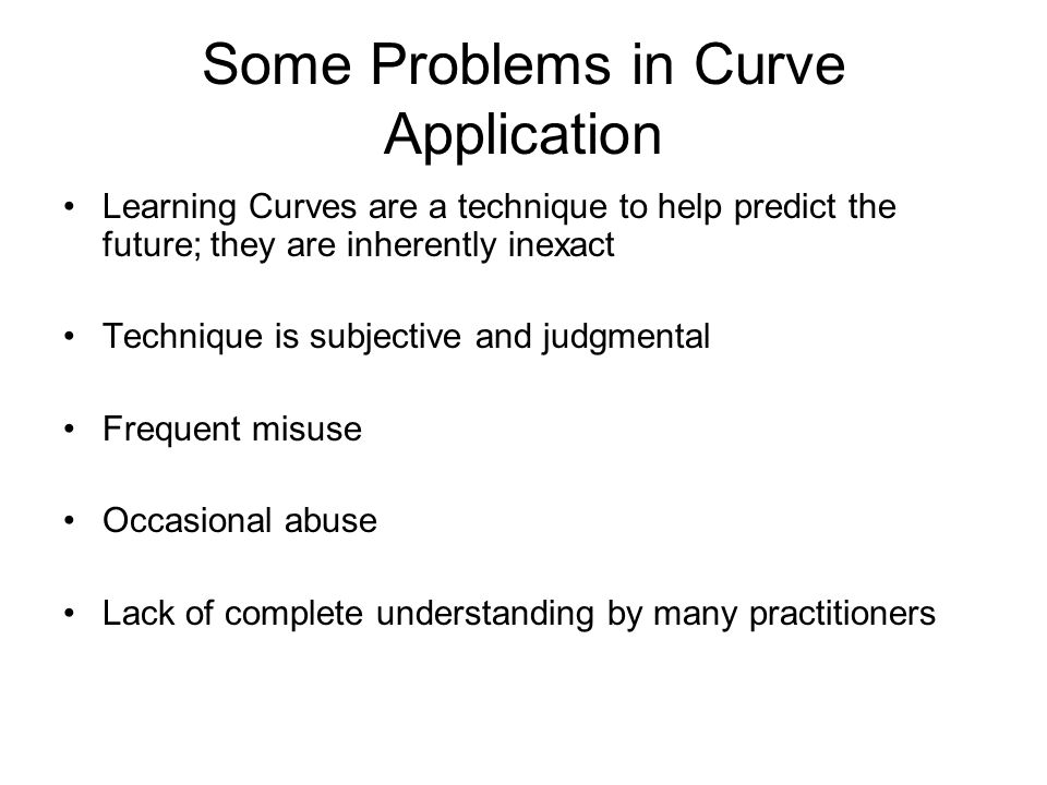 Some Problems in Curve Application