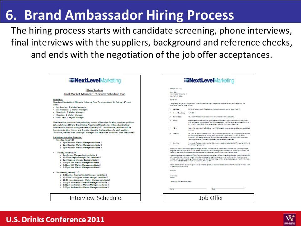 6. Brand Ambassador Hiring Process