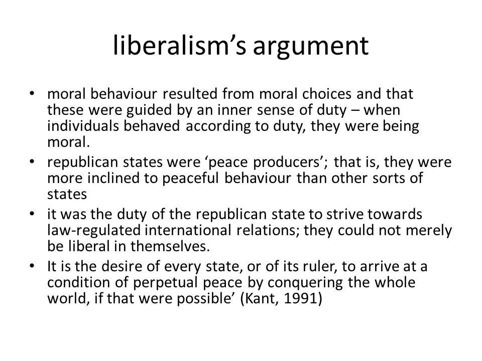 liberalism's argument