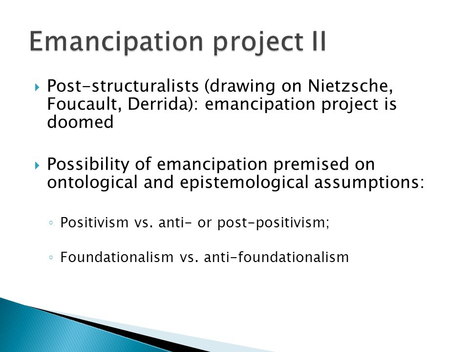 Emancipation project II